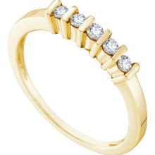10KT Yellow Gold 0.17CTW DIAMOND FASHION BAND #34723v3