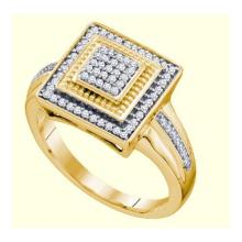 10KT Yellow Gold 0.22CTW DIAMOND MICRO-PAVE RING #34469v3