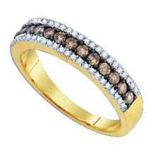 14KT Yellow Gold 0.58CTW DIAMOND FASHION BAND #34534v3