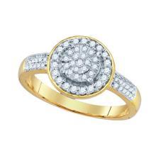10K Yellow-gold 0.34CTW DIAMOND FASHION RING #34510v3