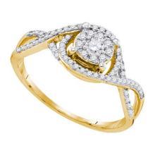 14K Yellow-gold 0.36CTW DIAMOND FASHION RING #34575v3