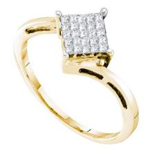 14K Yellow-gold 0.25 CTW DIAMOND INVISIBLE RING #34946v3