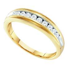 10KT Yellow Gold 0.25CTW DIAMOND FASHION BAND #34906v3