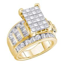 14KT Yellow Gold 1.00CTW DIAMOND INVISIBLE RING #37353v3