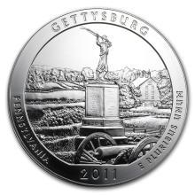 2011 5 oz Silver ATB Gettysburg National Military Park, PA #22185v3