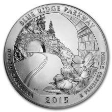 2015 5 oz Silver ATB Blue Ridge National Parkway, NC #22179v3