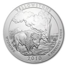 2010 5 oz Silver ATB Yellowstone National Park, WY #22188v3