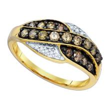 10KT Yellow Gold 0.57CTW DIAMOND FASHION RING #32597v3