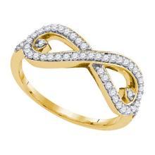 10K Yellow-gold 0.35CTW DIAMOND FASHION RING #32409v3