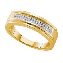 10KT Yellow Gold 0.12CTW DIAMOND MICRO PAVE BAND #32608v3