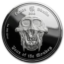 2016 Palau 1 oz Silver Proof Lunar Skulls - Monkey (Capsule) #21716v3