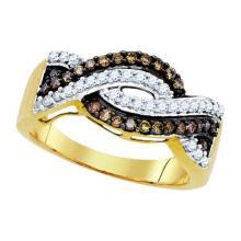 10K Yellow-gold 0.50CTW DIAMOND FASHION RING #32427v3