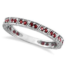 Ruby Stackable Ring Anniversary Band in 14k White Gold (0.27ct) #53468v3