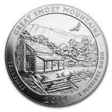 2014 5 oz Silver ATB Great Smoky Mountains National Park, TN #22195v3