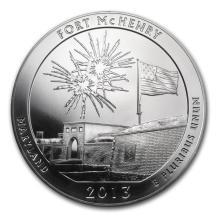 2013 5 oz Silver ATB Fort McHenry National Park, MD #22198v3