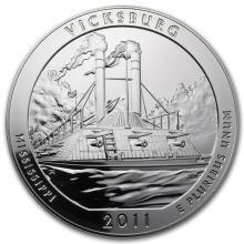 2011 5 oz Silver ATB Vicksburg National Military Park, MS #22196v3