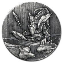 2015 2 oz Silver Coin Viking Series (Odin) #21700v3