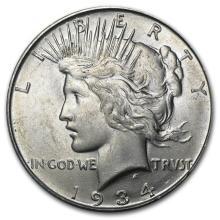 1934-D Peace Dollar BU #22118v3