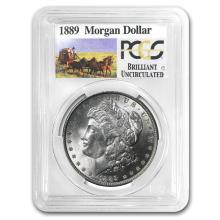 1889 Stage Coach Silver Dollar BU PCGS #22114v3