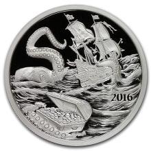 2016 Kraken Silverbug Island 1 oz Silver Round (Prooflike) #52587v3