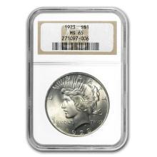 1922-1925 Peace Dollars MS-65 NGC #22100v3