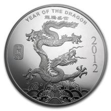 10 oz Silver Round - (2012 Year of the Dragon) #52644v3