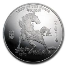 10 oz Silver Round - (2014 Year of the Horse) #52666v3