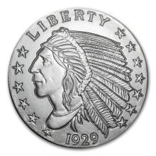 5 oz Silver Round - Incuse Indian #52581v3