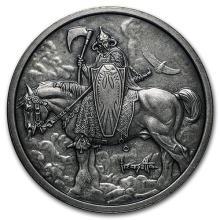 1 oz Silver Antique Round - Frank Frazetta (Death Dealer) #52603v3