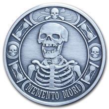 1 oz Silver Round - Memento Mori (Antique Finish) #52670v3