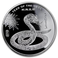 1/2 oz Silver Round -(2013 Year of the Snake) #52579v3