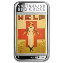 2015 Australia 1 oz Silver Posters of WWI Proof (Red Cross) #52915v3