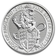 2016 Great Britain 2 oz Silver Queen's Beasts (The Lion) #52512v3