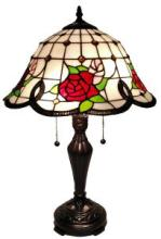 TIFFANY STYLE ROSES TABLE LAMP 24 IN #99545v2
