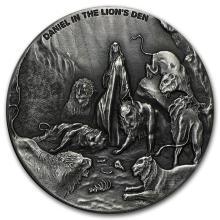 2 oz Silver Coin - Biblical Series (Daniel in the Lion's Den) #31079v3