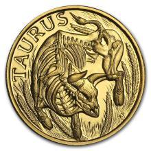 1/10 oz Gold Round Zodiac Series Taurus #22508v3
