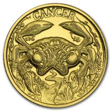 1/10 oz Gold Round Zodiac Series - Cancer #22503v3