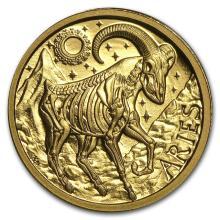 1/10 oz Gold Round Zodiac Series Aries Proof #22504v3