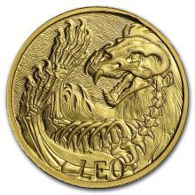 1/10 oz Gold Round Zodiac Series - Leo #22501v3