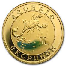 2008 Armenia Gold 10000 Drams Zodiac Series (Scorpio) #22512v3