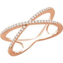 14kt Rose Gold .15 CTW Diamond Criss Cross Ring #10029v3
