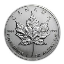 1992 Canada 1 oz Silver Maple Leaf BU #21981v3