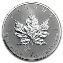 2005 Canada 1 oz Silver Maple Leaf Lunar ROOSTER Privy #21988v3