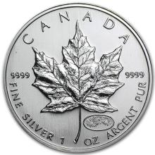 1999/2000 Canada 1 oz Silver Maple Leaf Millennium Privy #21972v3