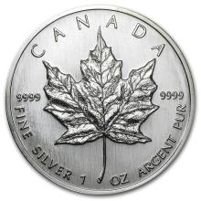 1989 Canada 1 oz Silver Maple Leaf BU #21967v3