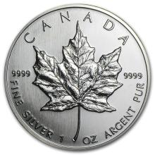 1990 Canada 1 oz Silver Maple Leaf BU #21971v3