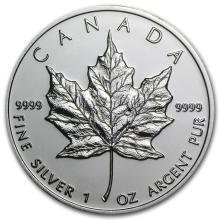 2009 Canada 1 oz Silver Maple Leaf BU #21979v3