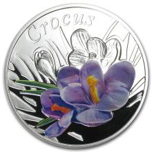 2013 Belarus Silver Proof Under the Charm of Flowers Crocus #22035v3