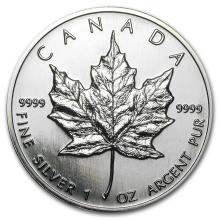 1996 Canada 1 oz Silver Maple Leaf BU #21987v3