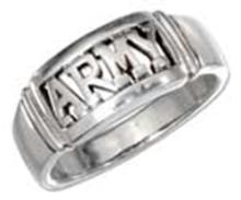 STERLING SILVER ARMY BAND RING #17827v3